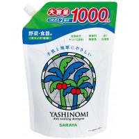 """Saraya ''Yashinomi"""" līdzeklis trauku, dārzeņu un augļu mazgāšanai, pildviela 1000ml"""