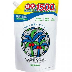 """Saraya ''Yashinomi"""" līdzeklis trauku, dārzeņu un augļu mazgāšanai, pildviela 1500ml"""