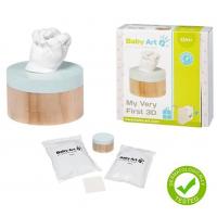Baby Art 3D Sculpture Kit komplekts mazuļa pēdiņu/rociņu nospieduma izveidošanai