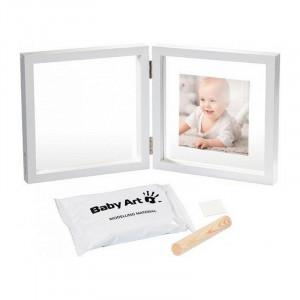 Baby Art Divdaļīgs rāmītis ar mazuļa pēdiņas/rociņas nospieduma izveidošanai