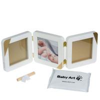 Baby Art Trīsdaļīgs rāmītis ar mazuļa pēdiņas/rociņas nospieduma izveidošanai