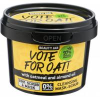"Beauty Jar ''Vote for oat!"" attīroša maska-skrubis 100g"