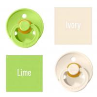 Bibs Lime/Ivory Knupītis izgatavots no 100% dabīgas gumijas - ķirša forma 0-6 mēneši (2 gab.)