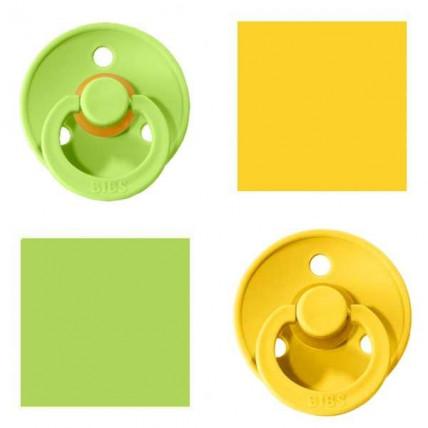 Bibs Lime/Pineapple Knupītis izgatavots no 100% dabīgas gumijas - ķirša forma 0-6 mēneši (2 gab.)
