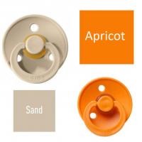 Bibs Sand/Apricot Knupītis izgatavots no 100% dabīgas gumijas - ķirša forma 6-18 mēneši (2 gab.)