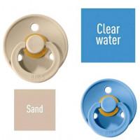 Bibs Sand/Clear water Knupītis izgatavots no 100% dabīgas gumijas - ķirša forma 6-18 mēneši (2 gab.)