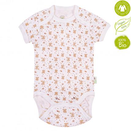 Bio Baby Organiskas kokvilnas bērnu bodijs ar īsām piedurknēm
