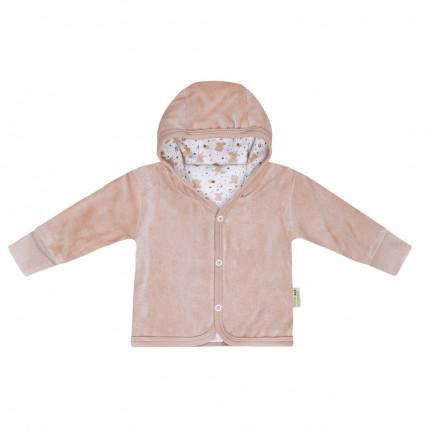 Bio Baby Organiskas kokvilnas bērnu velūra krekliņš ar kapuci