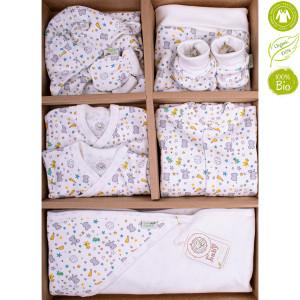 Bio Baby Organiskas kokvilnas jaundzimušo apģērbu komplekts