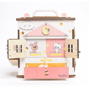 Boobo Toys Busy Cube Medium Aktivitātes kubs meitenēm