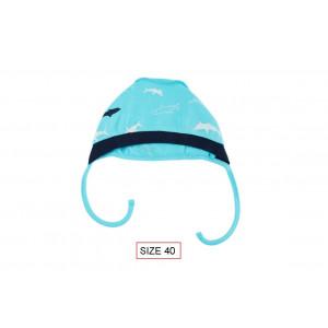 Cango Cepure jaundzimušajiem SHARK 40. izmērs, 100% kokvilna