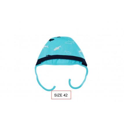 Cango Cepure jaundzimušajiem SHARK 38. izmērs, 100% kokvilna