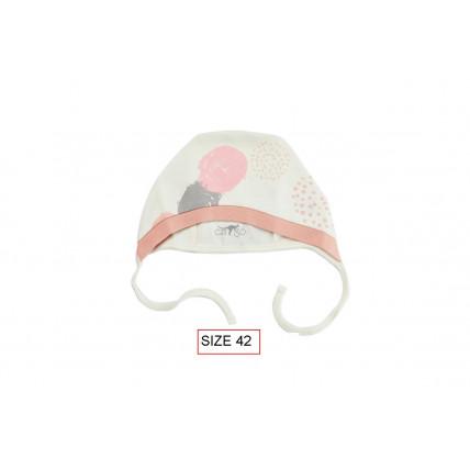 Cango Cepure jaundzimušajiem DOTS 42. izmērs, 100% kokvilna