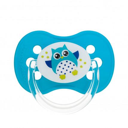 Canpol Babies Owl baby 22/570 Simetrisks silikona knupītis 18m +