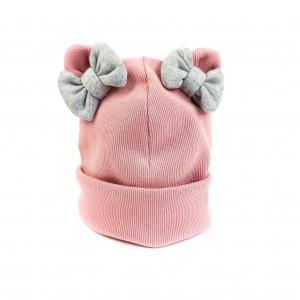 Bērnu kokvilnas pavasara cepure ar bantītēm