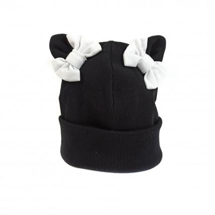 Bērnu kokvilnas cepure ar bantītēm