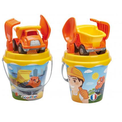 Ecoiffier 8/736S Smilšu kastes rotaļlietu komplekts