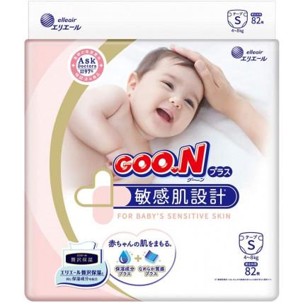 Autiņbiksītes jutīgai ādai Goo.N S 4-8 kg 82gab