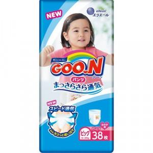 Japānas autiņbiksītes-biksītes Goo.N (Goon) PBL meitenēm (12-20 kg) 38gab