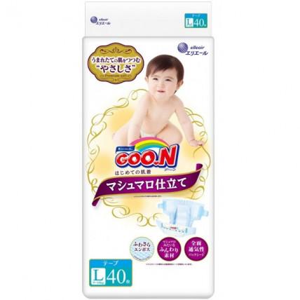 Autiņbiksītes Goo.N Marshmallow L 9-14kg 40gab
