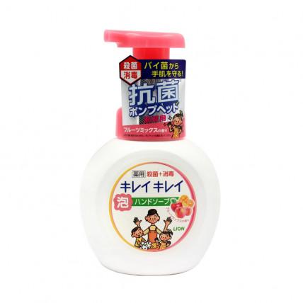 Šķidrās putojošās ziepes Lion KireiKirei ar augļu aromātu 250 ml