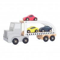 JaBaDaBaDo W7152 Bērnu koka treilers ar mašīnām