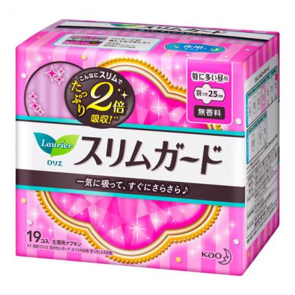 Laurier 5* nakts higiēniskās paketes ar spārniņiem 25cm 19gab