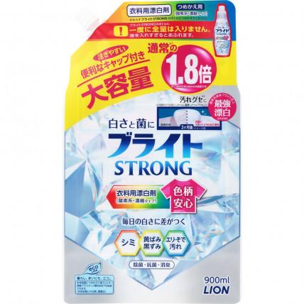 """Skābekļa balinātājs Liquid Oxygen Bleach with Antibacterial Effect LION """"Bright STRONG"""" refill 900ml"""