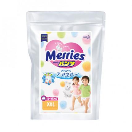 Autiņbiksītes-biksītes Merries XXL 15-28kg paraugs 3gab