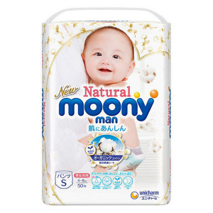 Autiņbiksītes-biksītes Moony Natural PS 4-8kg 50gab
