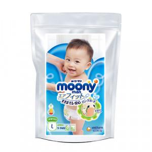 Autiņbiksītes Moony L 9-14kg paraugs 3gab