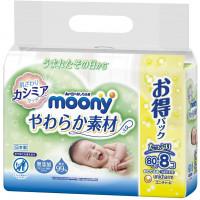 Mitrās salvetes Moony 640gab (8x80)