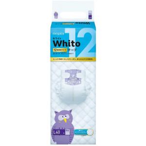 Autiņbiksītes Whito 12h L 9-14kg 40gab