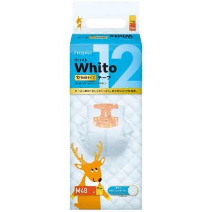 Autiņbiksītes Whito 12h  M 6-11kg 48gab
