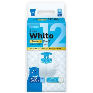 Autiņbiksītes Whito 12h S 4-8kg 60gab
