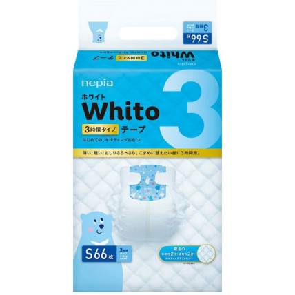 Autiņbiksītes Whito 3h S 4-8kg 66gab