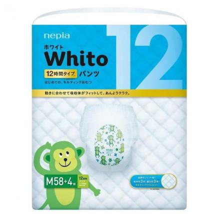 Autiņbiksītes-biksītes Whito 12h PM 7-10kg 62gab