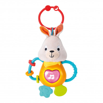WinFun 0153 Muzikālā mīkstā rotaļlieta ar zobu riņķi