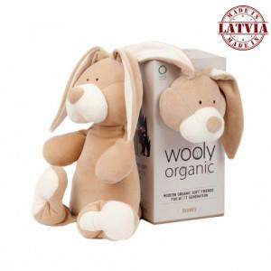 Wooly organic 00201 Lielā rotaļlieta zaķis
