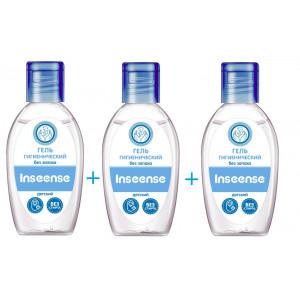 Inseense bērnu higiēniskais gels bez smaržas 50ml 3gab