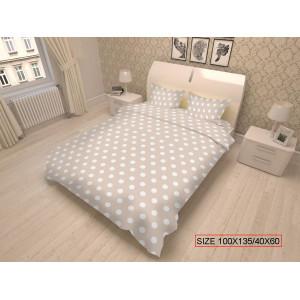 Bērnu gultas veļas komplekts 2-dalīgs, DOTS 100x135/40x60cm