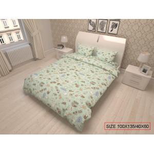 Bērnu gultas veļas komplekts 2-dalīgs, HAPPY FARM 100x135/40x60cm