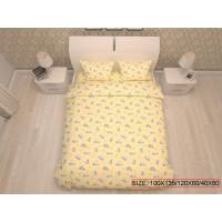 Bērnu gultas veļas komplekts 3-dalīgs, BEARS 100x135/120x60/40x60cm