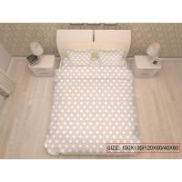 Bērnu gultas veļas komplekts 3-dalīgs, DOTS 100x135/120x60/40x60cm