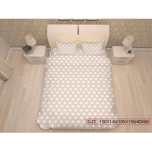 Bērnu gulta veļas komplekts 3-dalīgs, DOTS 100x140/105x150/40x60cm