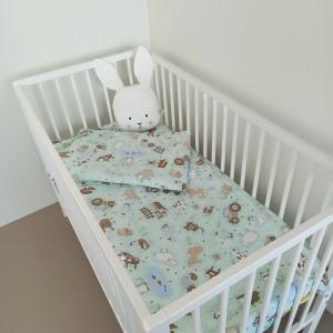 Bērnu gultas veļas komplekts 2-dalīgs, HAPPY FARM 100x140/40x60cm