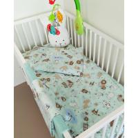 Bērnu gultas veļas komplekts 3-dalīgs, HAPPY FARM 100x135/120x60/40x60cm