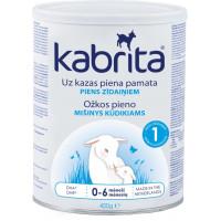 Kabrita 1 400 mākslīgais piena maisījums uz kazas piena pamata komfortablai gremošanai zīdaiņiem vecumā no 0 līdz 6 mēnešu vecumam