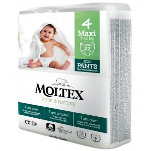 Autiņbiksītes-biksītes Moltex Pure & Nature 4 Maxi 7-12kg 22gab