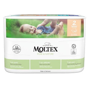 Autiņbiksītes Moltex Pure & Nature 2 Mini 3-6kg 38gab